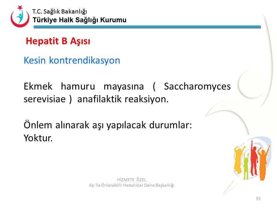 T.C. Sağlık Bakanlığı Türkiye Halk Sağlığı Kurumu T.C. Sağlık Bakanlığı Türkiye Halk Sağlığı Kurumu 55 HİZMETE ÖZEL Aşı İle Önlenebilir Hastalıklar Da