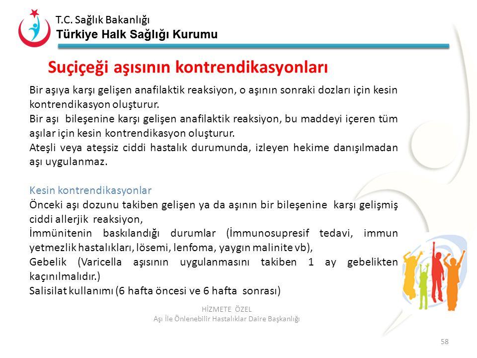 T.C. Sağlık Bakanlığı Türkiye Halk Sağlığı Kurumu T.C. Sağlık Bakanlığı Türkiye Halk Sağlığı Kurumu 58 HİZMETE ÖZEL Aşı İle Önlenebilir Hastalıklar Da