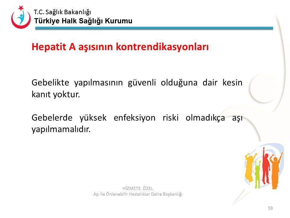 T.C. Sağlık Bakanlığı Türkiye Halk Sağlığı Kurumu T.C. Sağlık Bakanlığı Türkiye Halk Sağlığı Kurumu 59 HİZMETE ÖZEL Aşı İle Önlenebilir Hastalıklar Da
