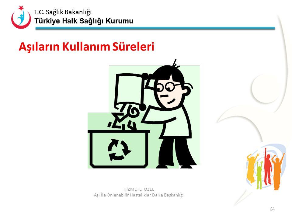 T.C. Sağlık Bakanlığı Türkiye Halk Sağlığı Kurumu T.C. Sağlık Bakanlığı Türkiye Halk Sağlığı Kurumu 64 HİZMETE ÖZEL Aşı İle Önlenebilir Hastalıklar Da