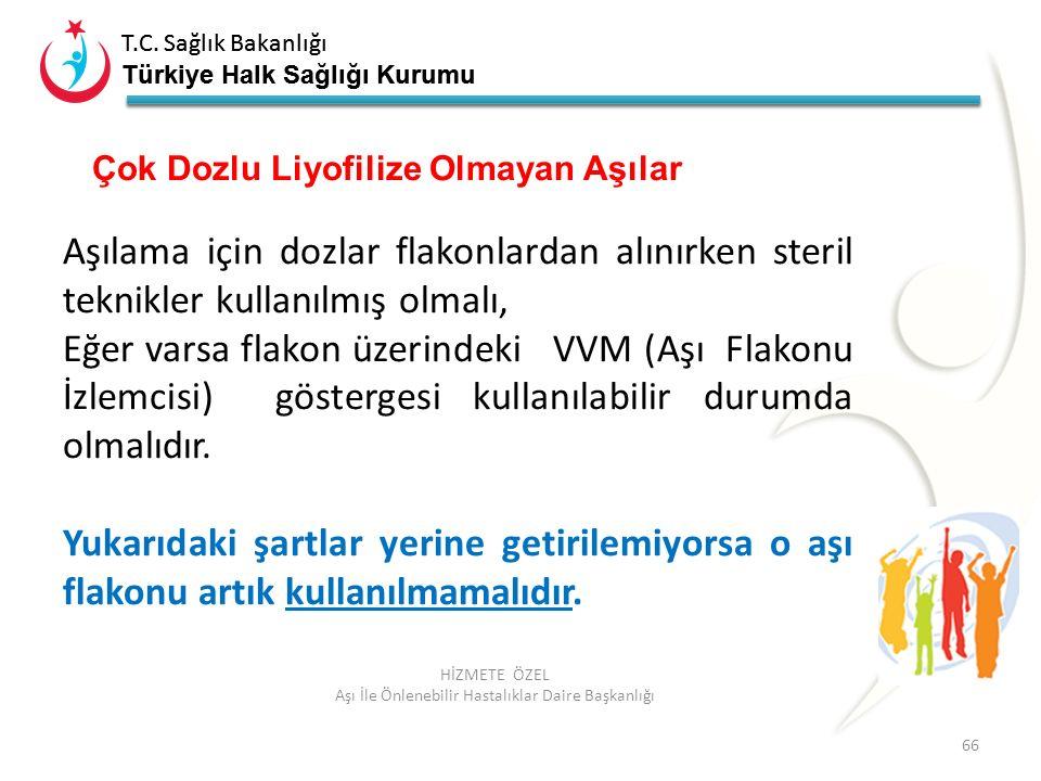 T.C. Sağlık Bakanlığı Türkiye Halk Sağlığı Kurumu T.C. Sağlık Bakanlığı Türkiye Halk Sağlığı Kurumu 66 HİZMETE ÖZEL Aşı İle Önlenebilir Hastalıklar Da