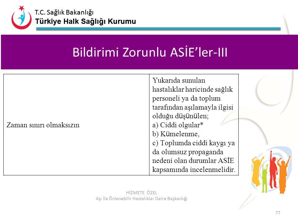 T.C. Sağlık Bakanlığı Türkiye Halk Sağlığı Kurumu T.C. Sağlık Bakanlığı Türkiye Halk Sağlığı Kurumu 77 HİZMETE ÖZEL Aşı İle Önlenebilir Hastalıklar Da