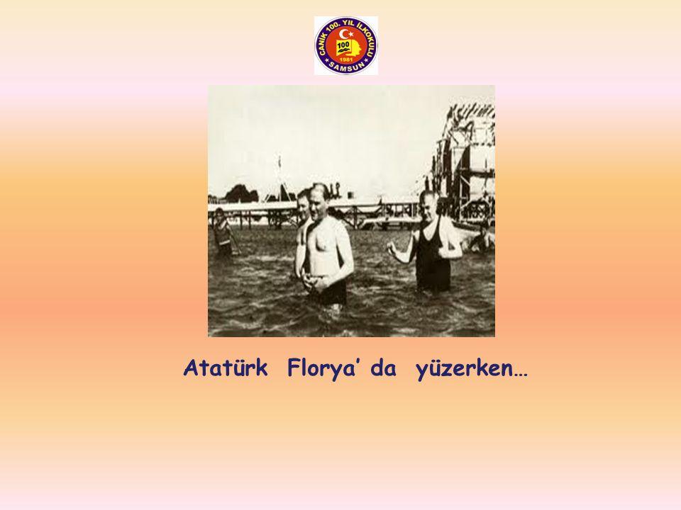 Atatürk yüzmeyi çok severdi…