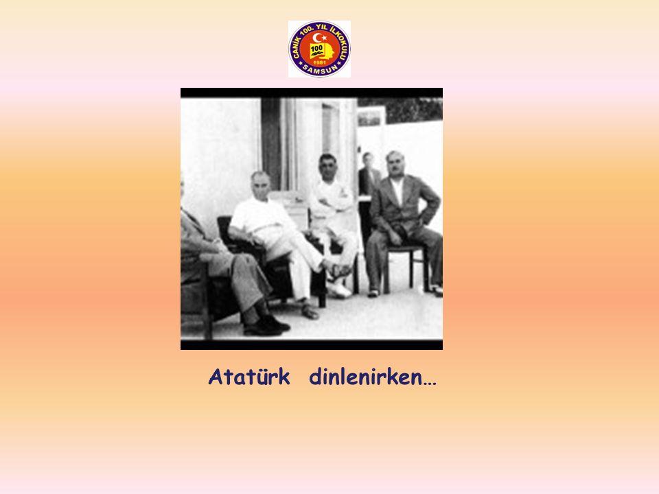Atatürk 2. Cumhurbaşkanı İsmet İnönü ile birlikte…