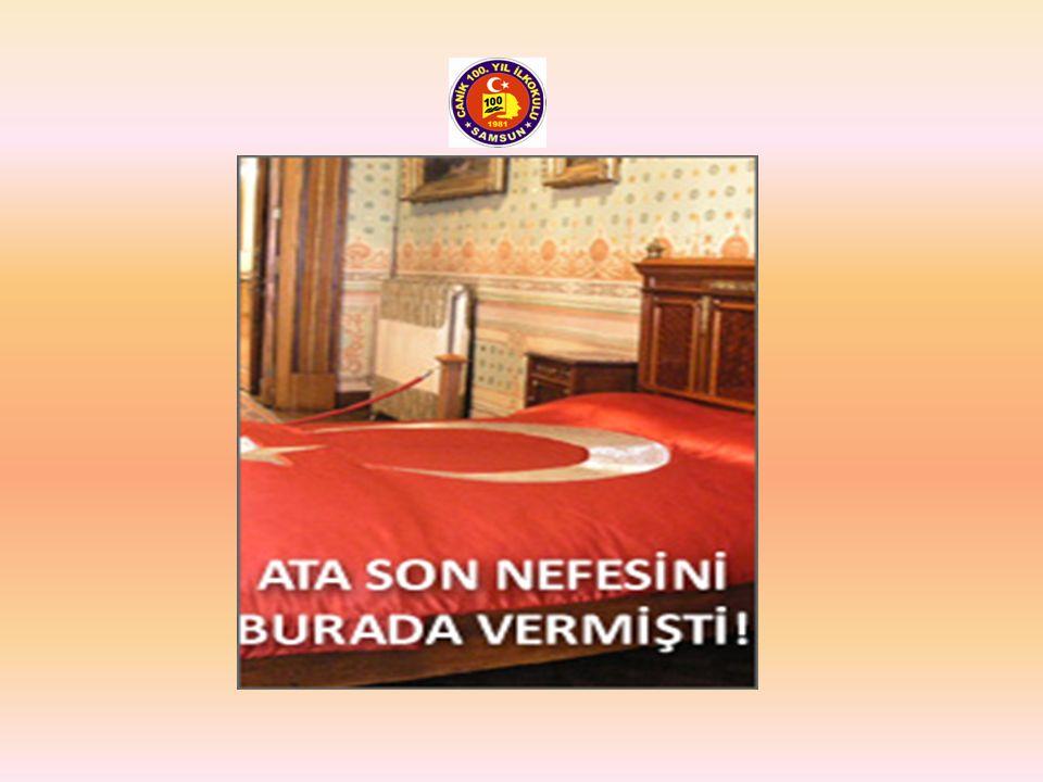 Dolmabahçe Sarayında Ata'nın son nefesini verdiği yatak…