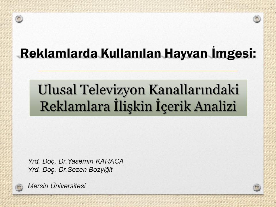 Bu çalışma, ulusal televizyon reklamlarındaki hayvan imgelerinin nasıl tasvir edildiğini belirlemek ve mevcut literatüre katkıda bulunmak amacıyla gerçekleştirilmiştir.