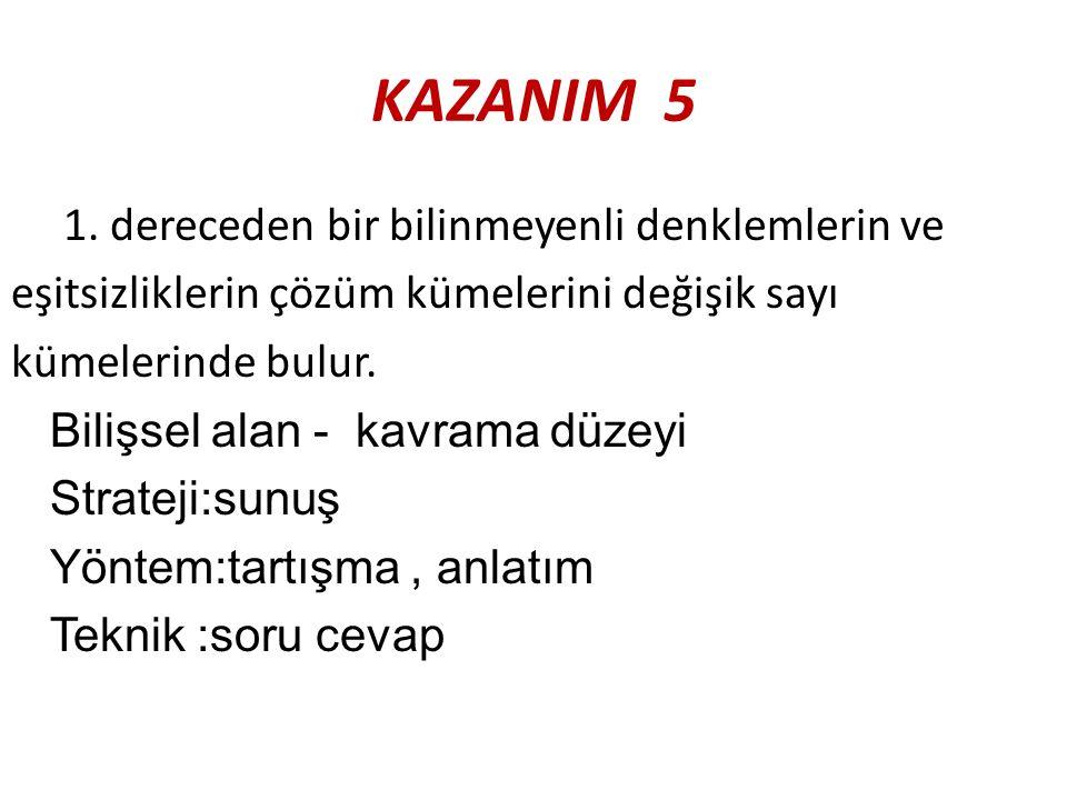 KAZANIM 5 1.