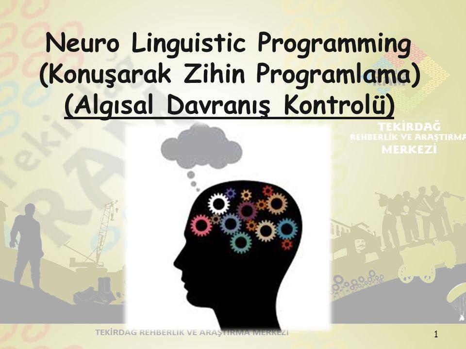 Neuro Linguistic Programming (Konuşarak Zihin Programlama) (Algısal Davranış Kontrolü) 1