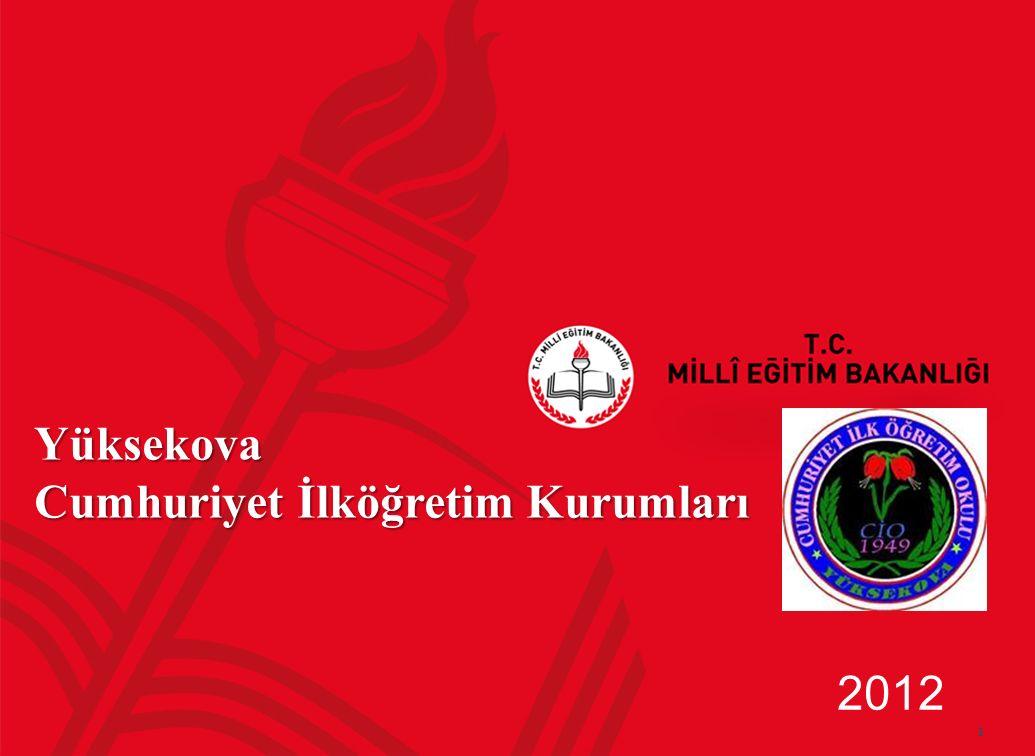 1 Yüksekova Cumhuriyet İlköğretim Kurumları 2012