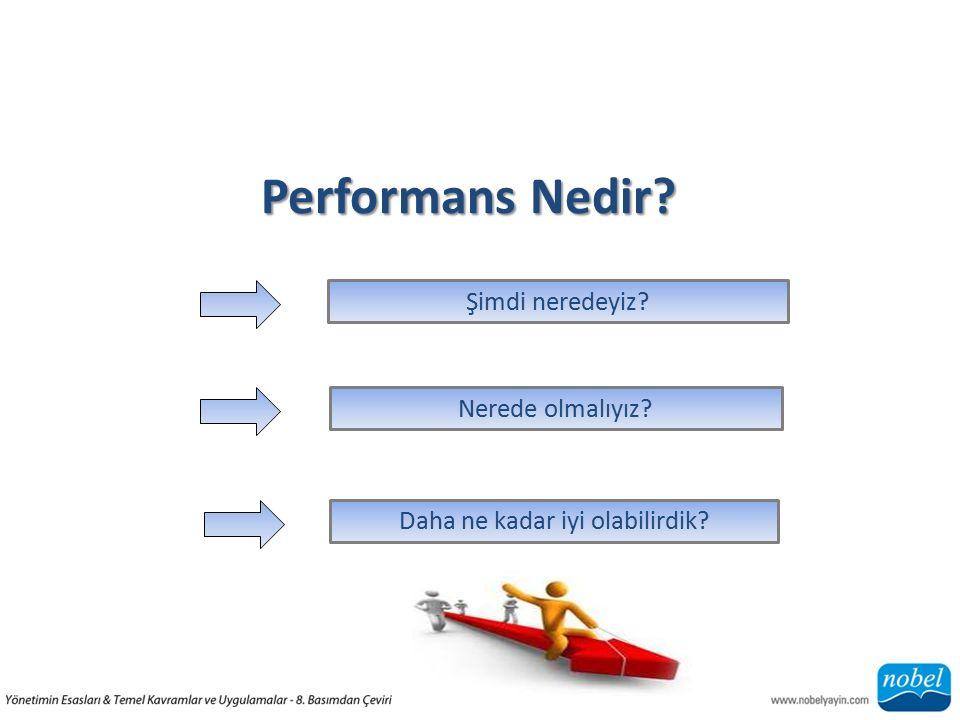 Performans Nedir? Şimdi neredeyiz?Daha ne kadar iyi olabilirdik?Nerede olmalıyız?