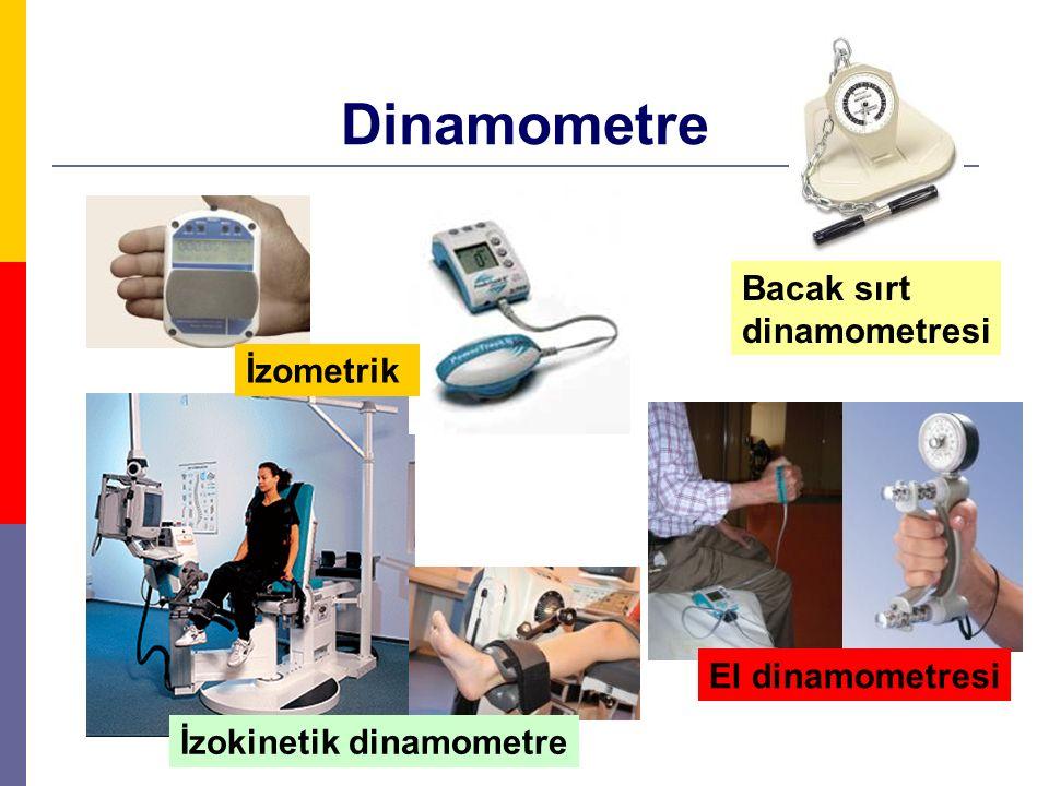Dinamometre Bacak sırt dinamometresi İzokinetik dinamometre İzometrik El dinamometresi