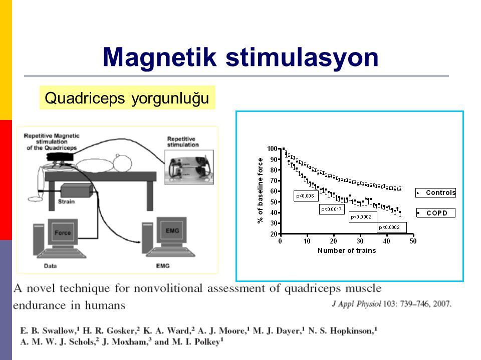 Magnetik stimulasyon Quadriceps yorgunluğu