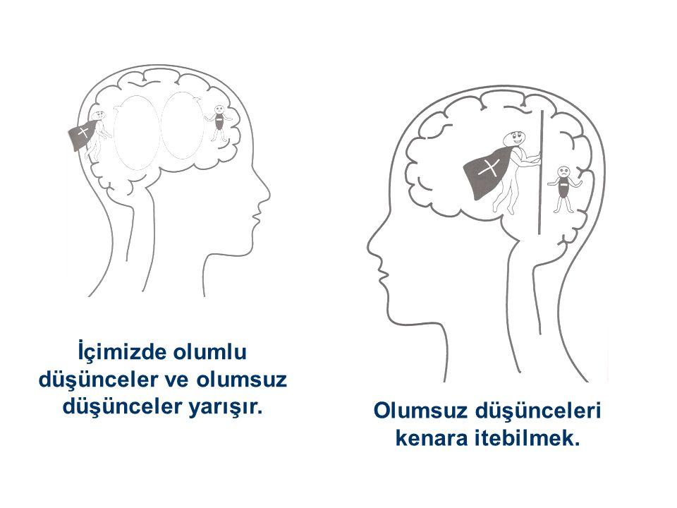 İçimizde olumlu düşünceler ve olumsuz düşünceler yarışır. Olumsuz düşünceleri kenara itebilmek.