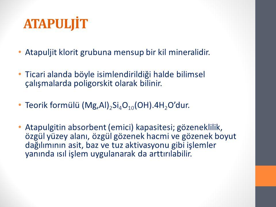 Atapuljit klorit grubuna mensup bir kil mineralidir.