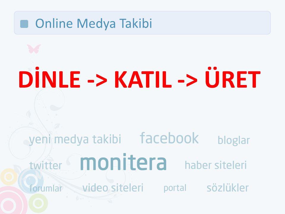Online Medya Takibi DİNLE -> KATIL -> ÜRET