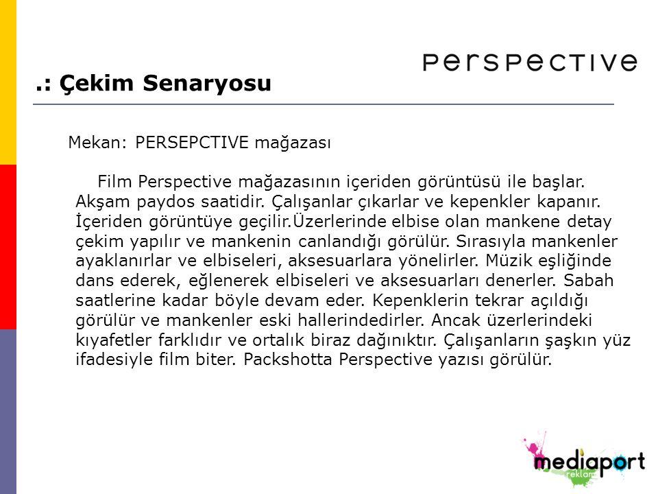 Mekan: PERSEPCTIVE mağazası Film Perspective mağazasının içeriden görüntüsü ile başlar.