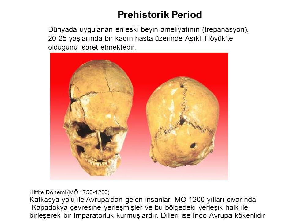 Dünyada uygulanan en eski beyin ameliyatının (trepanasyon), 20-25 yaşlarında bir kadın hasta üzerinde Aşıklı Höyük'te olduğunu işaret etmektedir. Preh