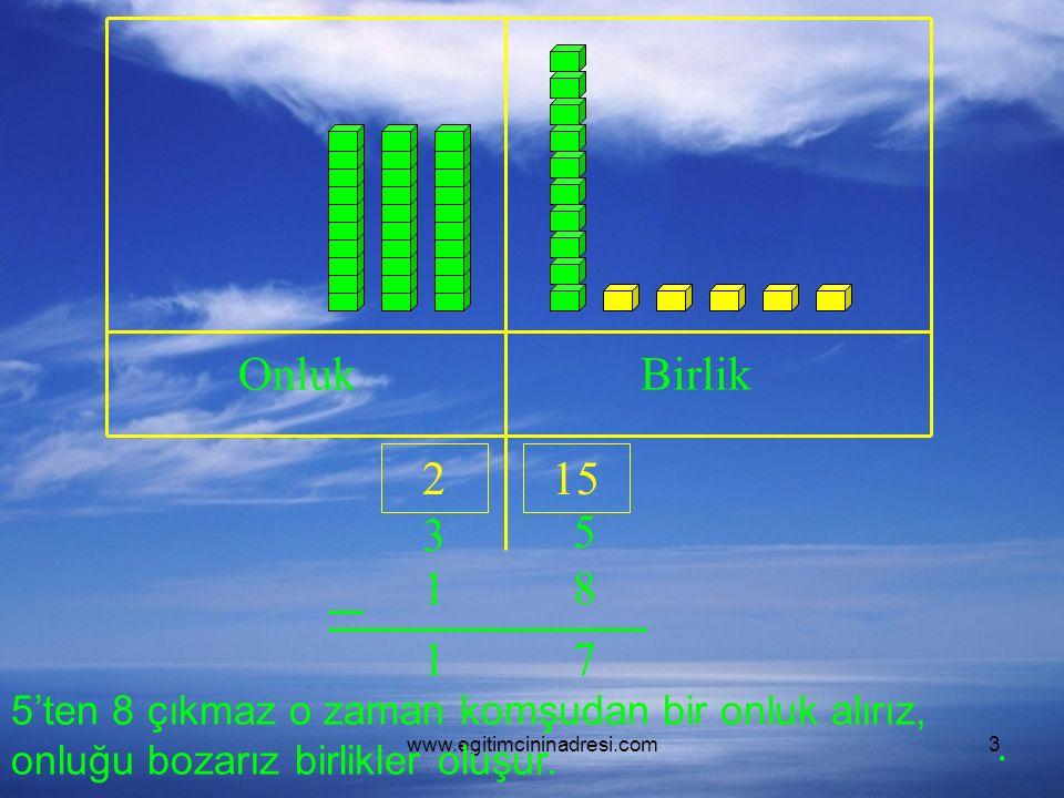 www.egitimcininadresi.com14 OnlukBirlik …. 35. Siz Yapın