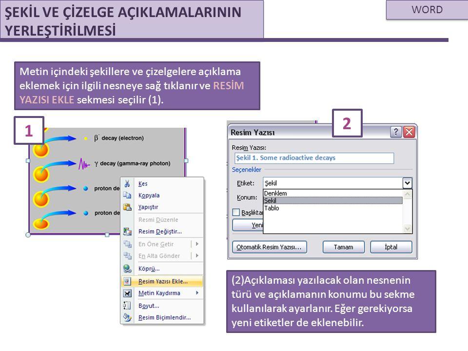 WORD HAZIRLANAN METNİN PDF OLARAK KAYDEDİLMESİ Hazırlanan metnin.pdf uzantılı olarak kaydedilmesi, metnin düzenli bir şekilde saklanmasına olanak sağlar.