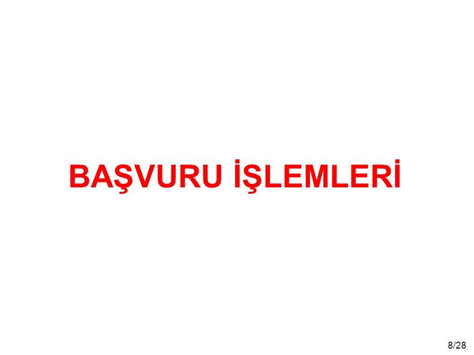 9/28 Başvurular, 19 Şubat-05 Mart 2015 tarihleri arasında ÖSYM Sınav Merkezi Yöneticiliklerine yapılacaktır.