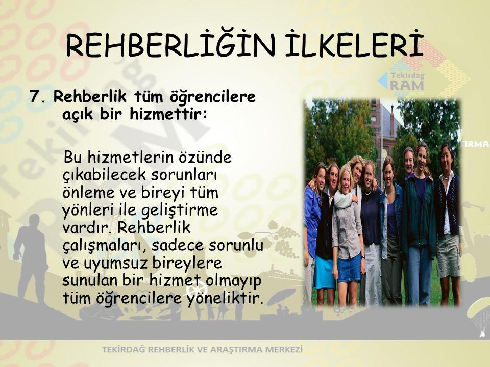 REHBERLİĞİN İLKELERİ 7.