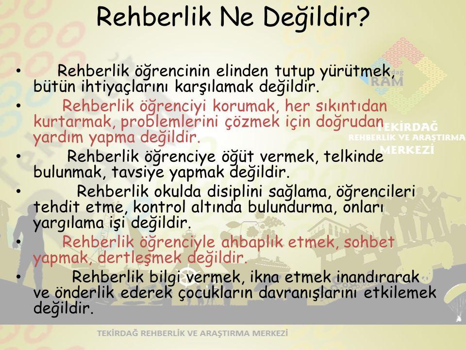 TurkPDR.com REHBERLİĞİN AMACI BİREY Kendini tanıma Kendini anlama ve kabul etme Bulunduğu ortamı ve çevreyi tanıma Ben ne yapabilirim.
