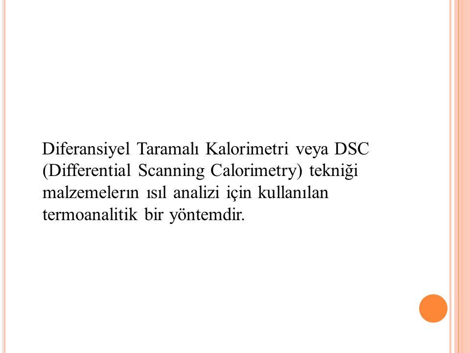 Diferansiyel Taramalı Kalorimetri veya DSC (Differential Scanning Calorimetry) tekniği malzemelerın ısıl analizi için kullanılan termoanalitik bir yöntemdir..