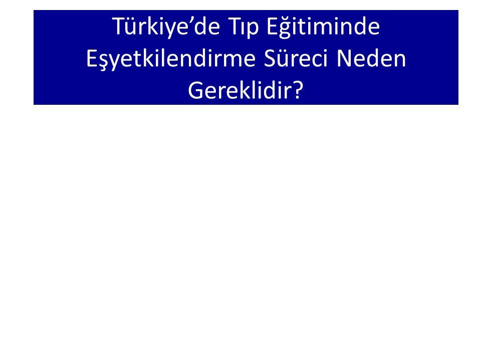 Türkiye'de Tıp Eğitiminde Eşyetkilendirme Süreci Neden Gereklidir?