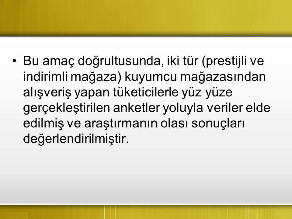Ayrıca, bu çalışmanın özellikle Türkiye'de altın piyasasına yön vermesiyle sektörel açıdan ekonomide önemli bir yere sahip olan kuyumculara farklı bir bakış açısı kazandıracağı düşünülmektedir.