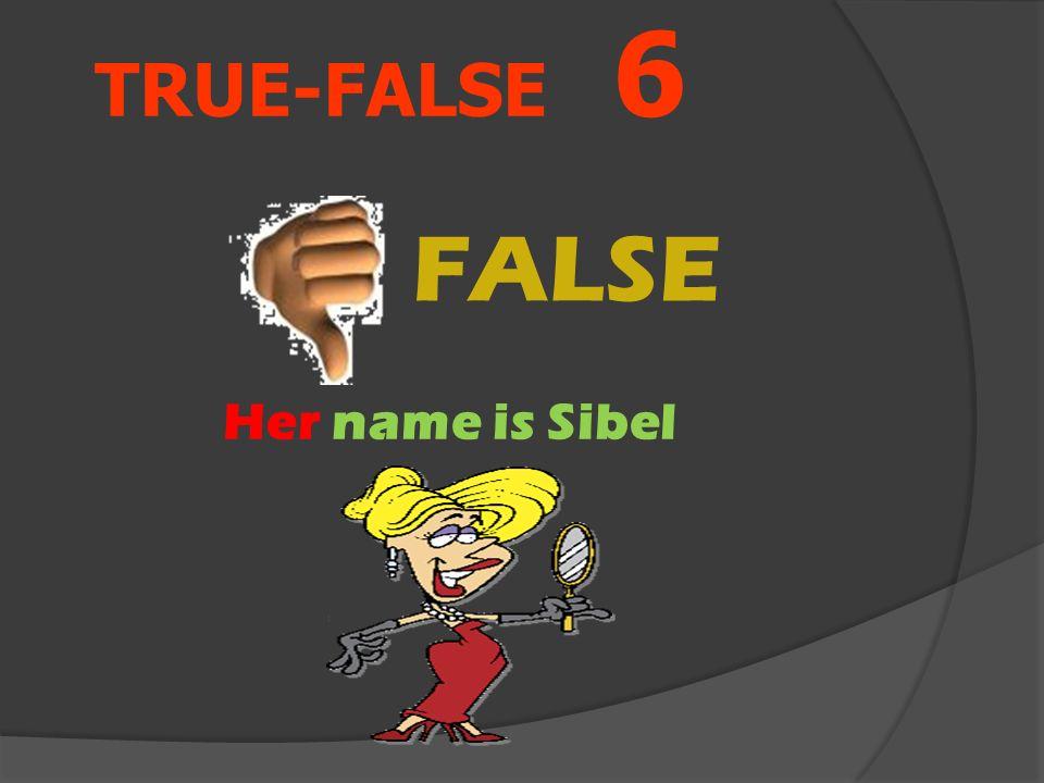 TRUE-FALSE 6 His name is Sibel Aşağıdaki resme göre cümle doğru mu yanlış mı