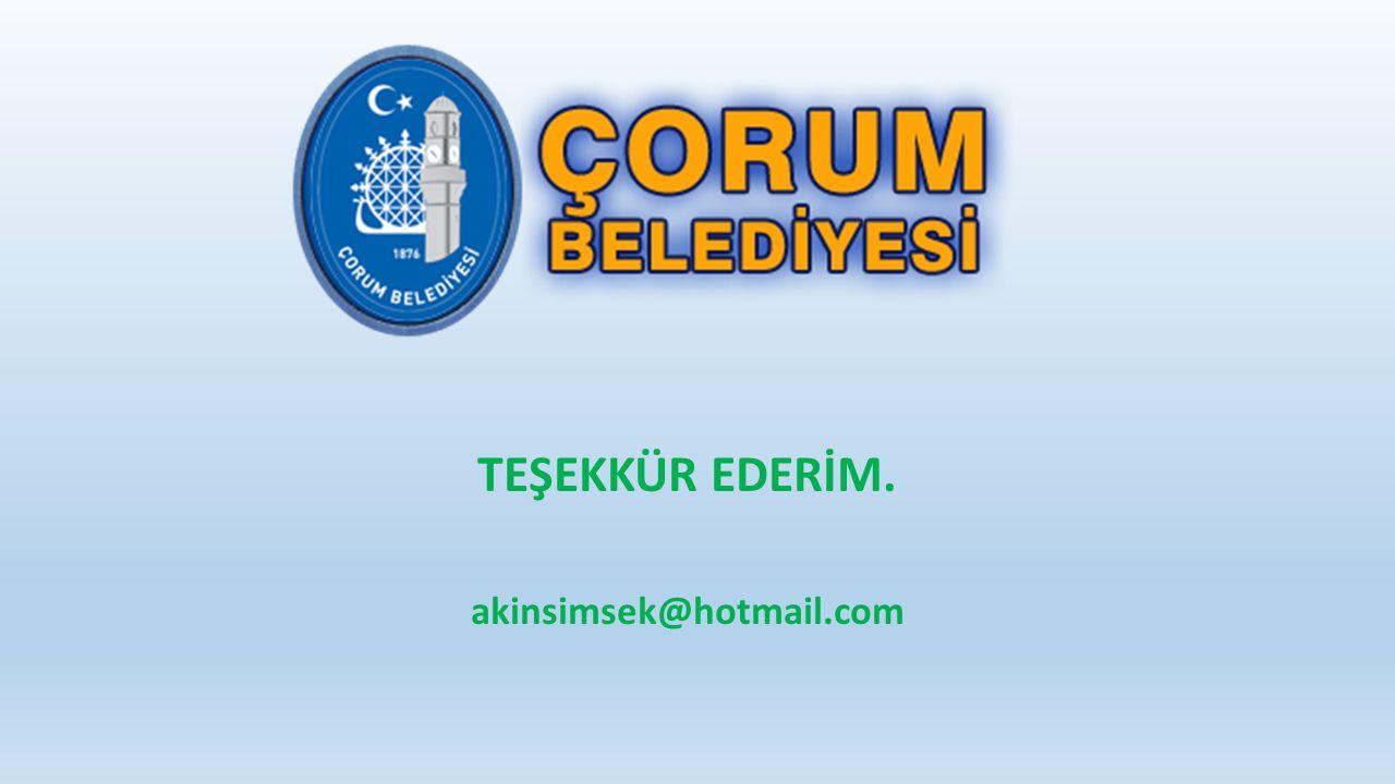 TEŞEKKÜR EDERİM. akinsimsek@hotmail.com