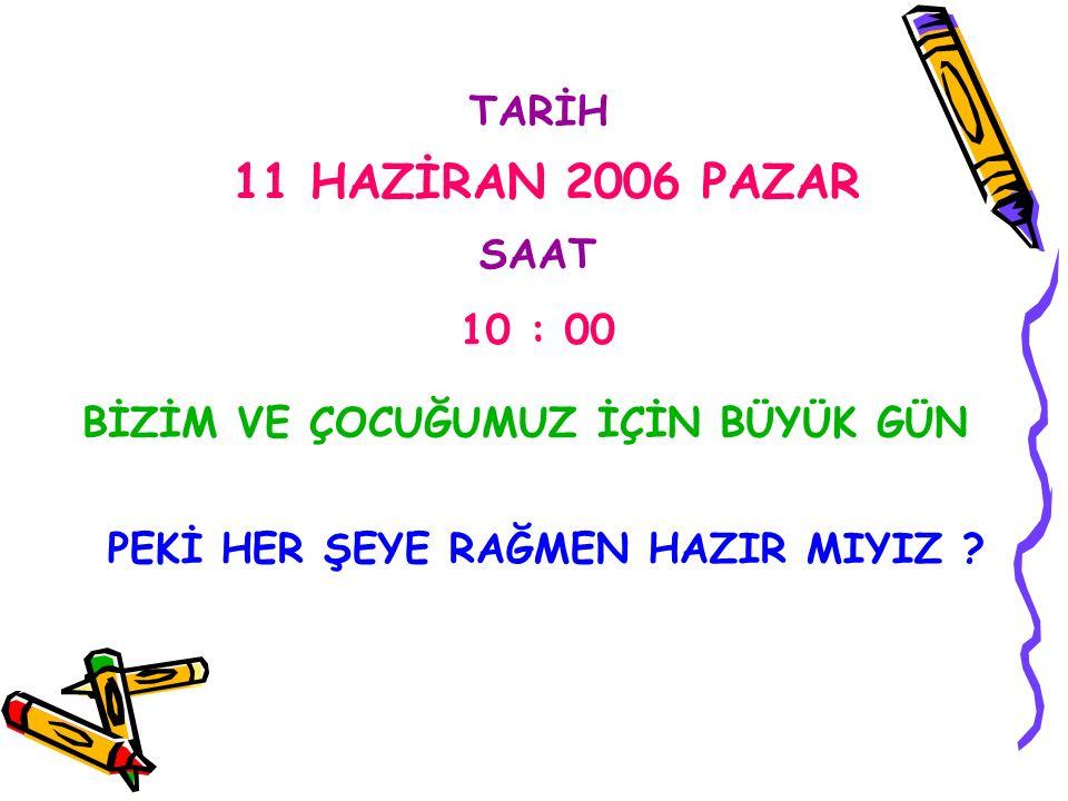 SINAV ÖNCESİ ANNE BABALAR DİKKAT !!!