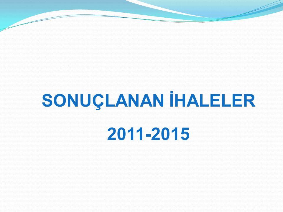 SONUÇLANAN İHALELER 2011-2015