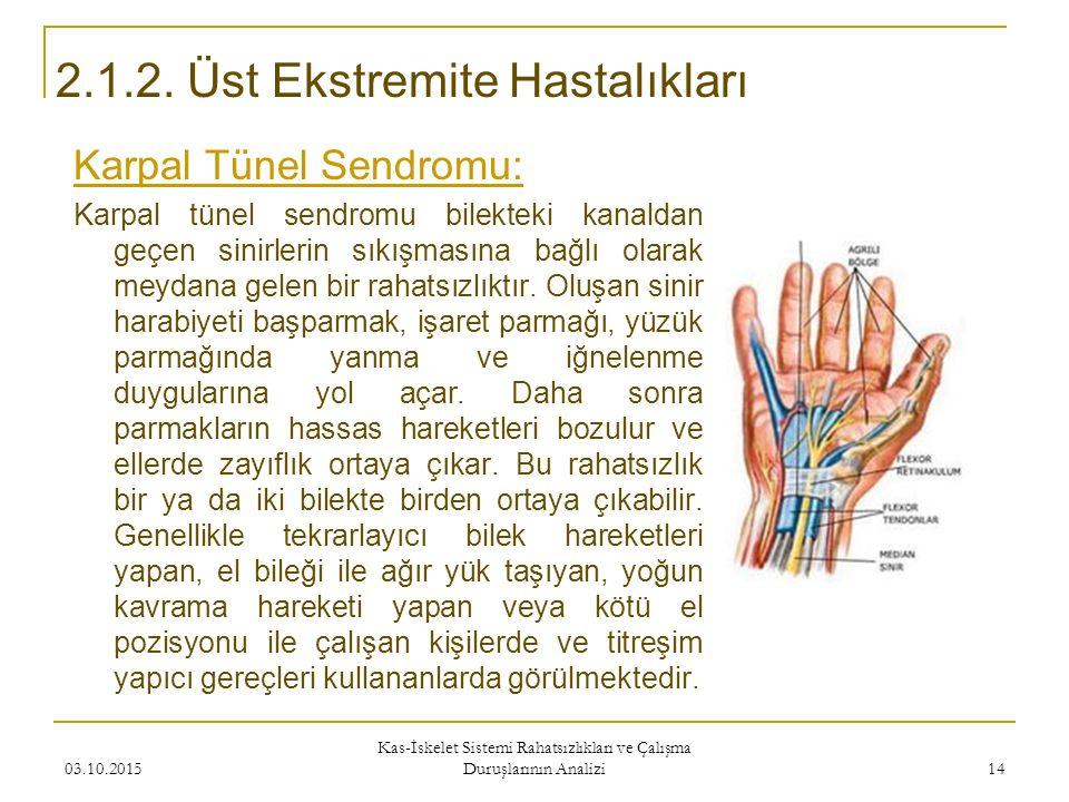 Karpal Tünel Sendromu: Karpal tünel sendromu bilekteki kanaldan geçen sinirlerin sıkışmasına bağlı olarak meydana gelen bir rahatsızlıktır. Oluşan sin