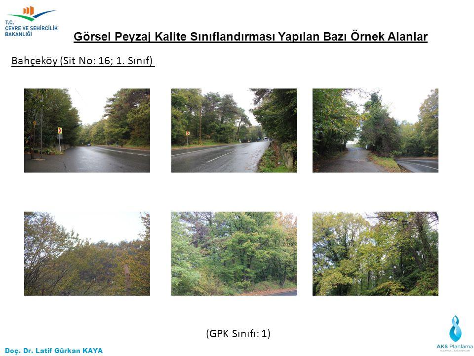 Doç. Dr. Latif Gürkan KAYA Görsel Peyzaj Kalite Sınıflandırması Yapılan Bazı Örnek Alanlar Bahçeköy (Sit No: 16; 1. Sınıf) (GPK Sınıfı: 1)