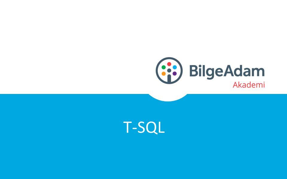 PredicatesIN, BETWEEN, LIKE Comparison Operators=, >, =,, !=, !>, !< Logical OperatorsAND, OR, NOT Arithmetic Operators+, -, *, /, % Concatenation+ T-SQL Karşılaştırmalar ve Operatörler