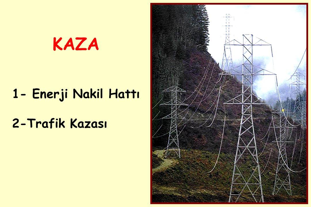 KAZA 1- Enerji Nakil Hattı 2-Trafik Kazası
