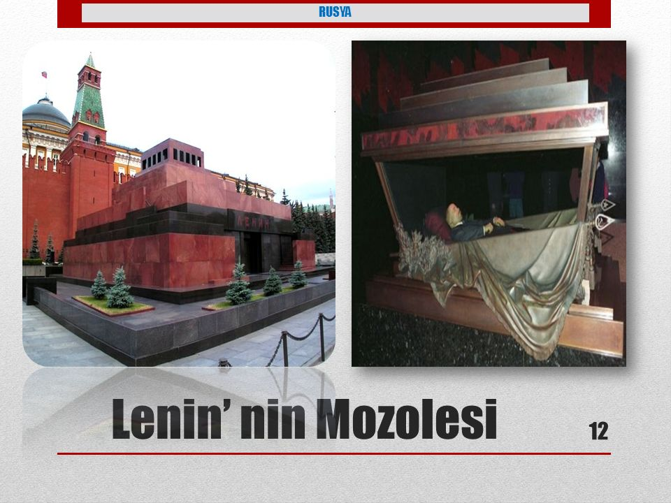 RUSYA Lenin' nin Mozolesi 12