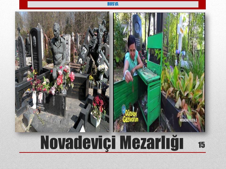 RUSYA Novadeviçi Mezarlığı 15