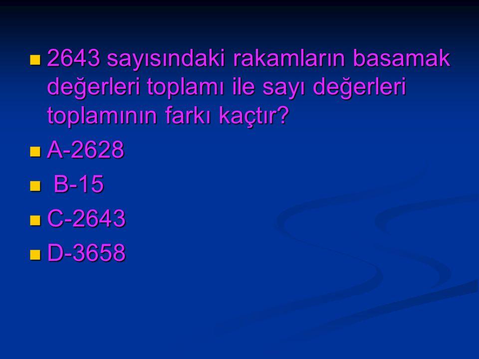 Matematik 21- 77-74-71-69-65-62 sayı dizesinde kuralı bozan sayı hangisidir? A-74B-69C-65D-71