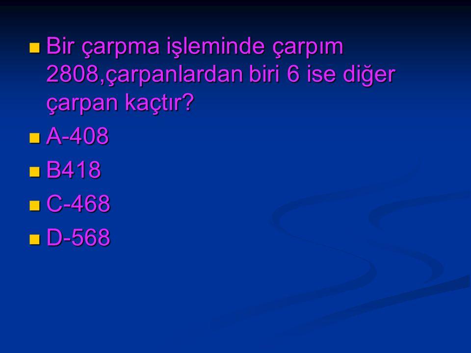 2643 sayısındaki rakamların basamak değerleri toplamı ile sayı değerleri toplamının farkı kaçtır.