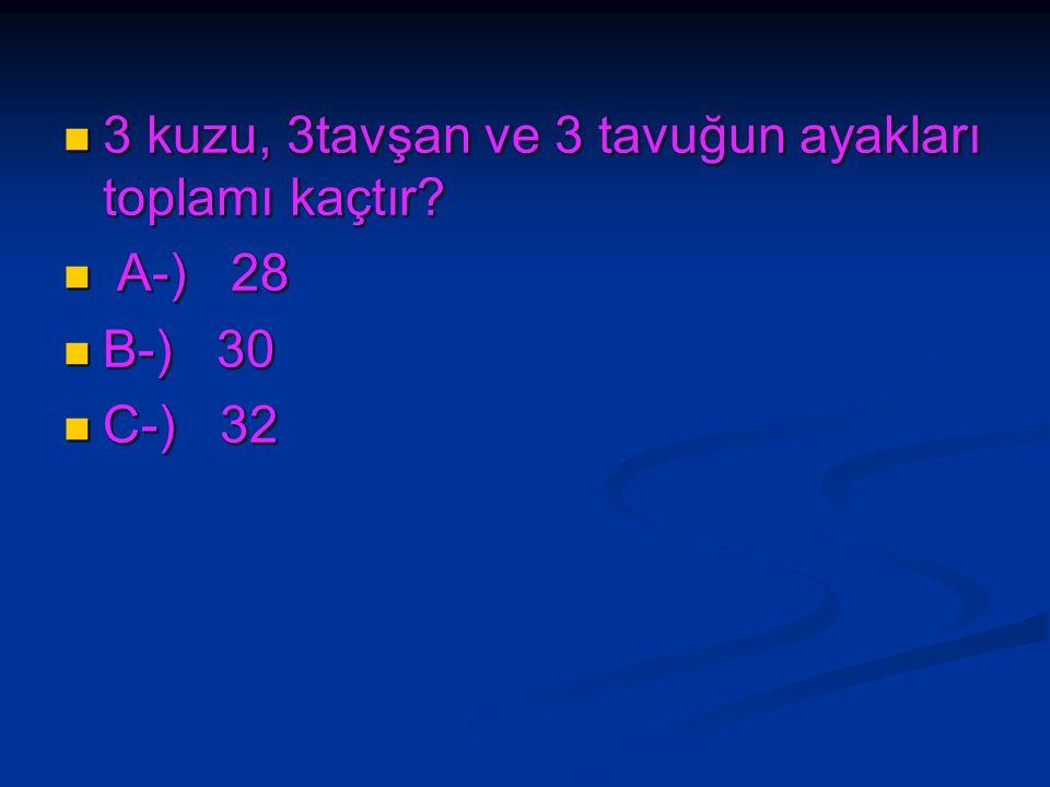 İki deste kalemin 3/4' ü (dörtte üçü) kaç kalem eder? İki deste kalemin 3/4' ü (dörtte üçü) kaç kalem eder? A-) 10 A-) 10 B-) 15 B-) 15 C-) 5 C-) 5