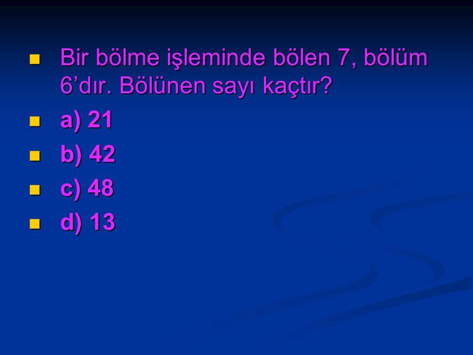 Hangi sayının 4 katının 8 eksiği 480'dir? Hangi sayının 4 katının 8 eksiği 480'dir? a) 82 a) 82 b) 95 b) 95 c) 108 c) 108 d) 122 d) 122