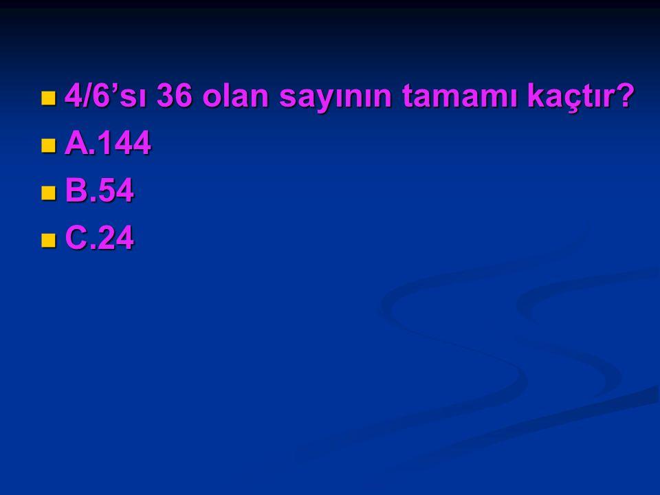 64 kg pirincin 3/4'ünün 5 kg fazlası kaç kg pirinç eder? 64 kg pirincin 3/4'ünün 5 kg fazlası kaç kg pirinç eder? A.53 A.53 B.48 B.48 C.16 C.16