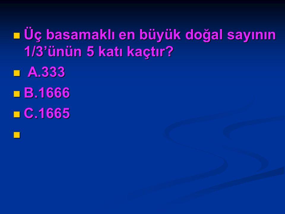 4/6'sı 36 olan sayının tamamı kaçtır? 4/6'sı 36 olan sayının tamamı kaçtır? A.144 A.144 B.54 B.54 C.24 C.24