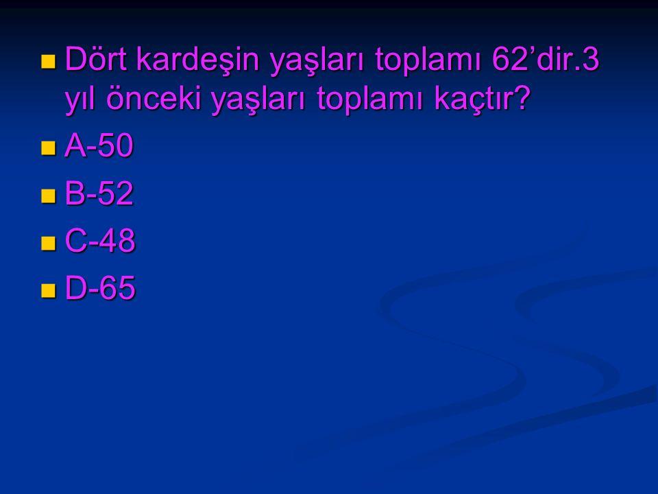 İki sayının toplamı 72'dir.Büyük sayı küçük sayıdan 16 fazla ise,küçük sayı kaçtır.