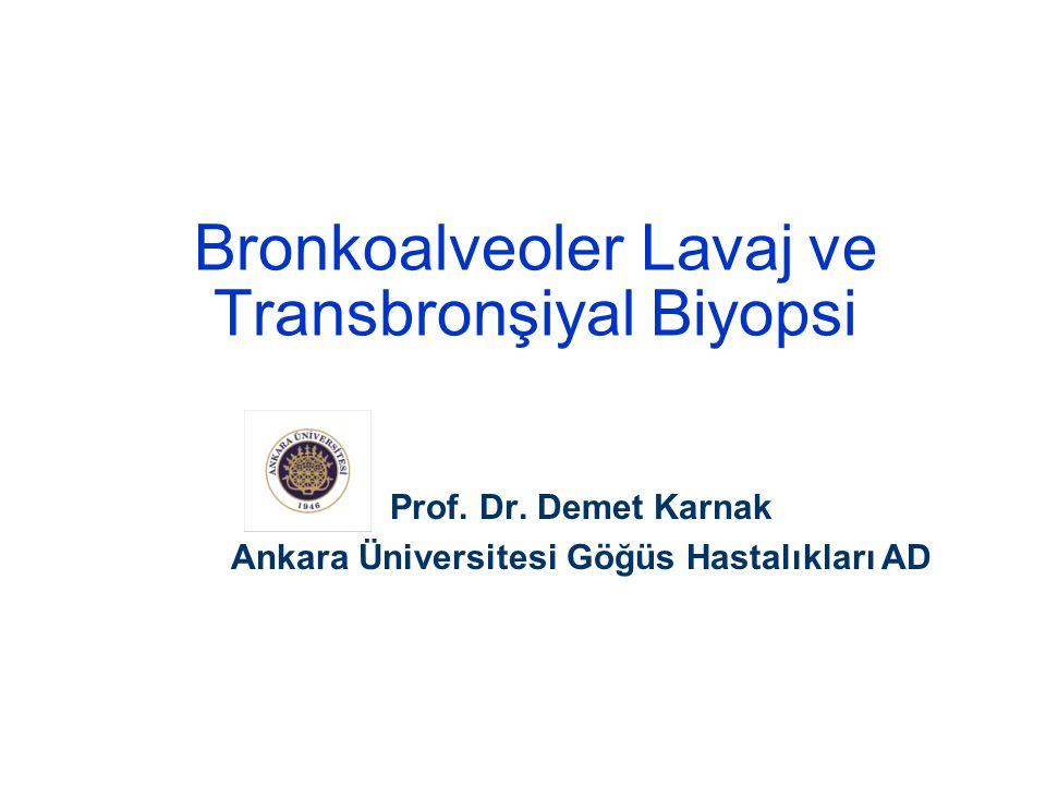Bronkoalveoler Lavaj (BAL)  Fleksible bronkoskopi (FB) ile uygulanan ve interstisyel akciğer hastalıkları başta olmak üzere çeşitli akciğer hastalıklarının etiyopatogenezine ulaşmak için kullanılan, FB ile bronşa ağızlaşıp sıvı verip almaya dayanan, distal hava yollarının bir göstergesi olan yarı invaziv bir tanı yöntemi -------------------------------------------------------------------------------------- ARRD 1990 142:481