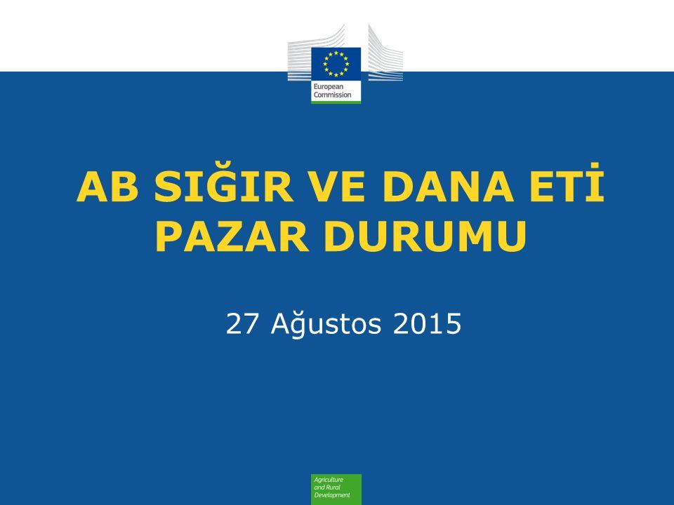AB SIĞIR VE DANA ETİ PAZAR DURUMU 27 Ağustos 2015