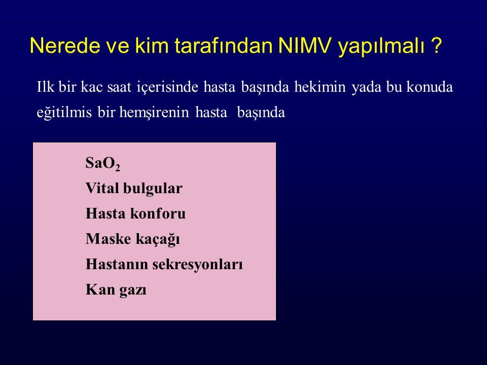 Nerede ve kim tarafından NIMV yapılmalı .