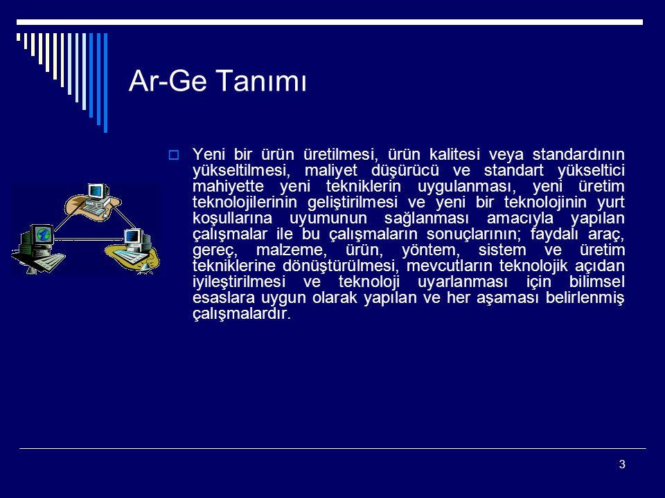 4 Ar-Ge Yönetimi  Bilimsel ve teknolojik yetkinlik gerektirir.